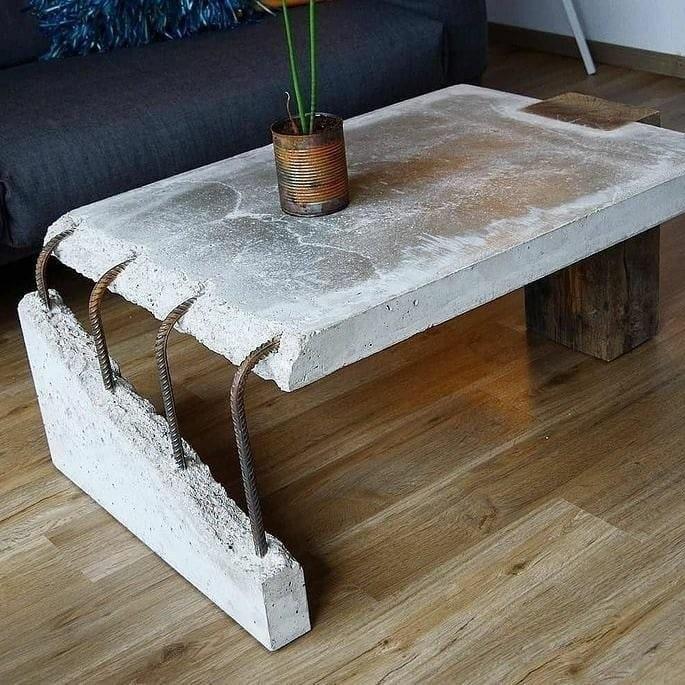 mesa de centro rústica Imobiliária Habitar