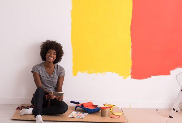Pintar casa Imobiliária Habitar